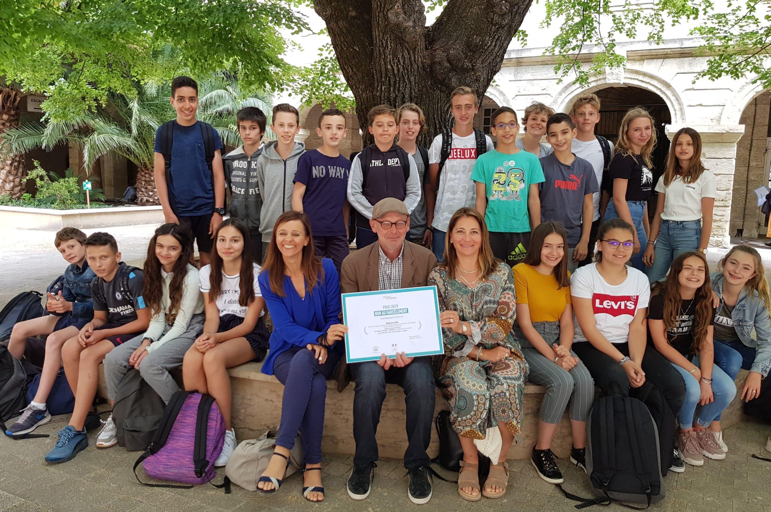 Une classe du Collège Le Bérange dit «Non au harcèlement» !
