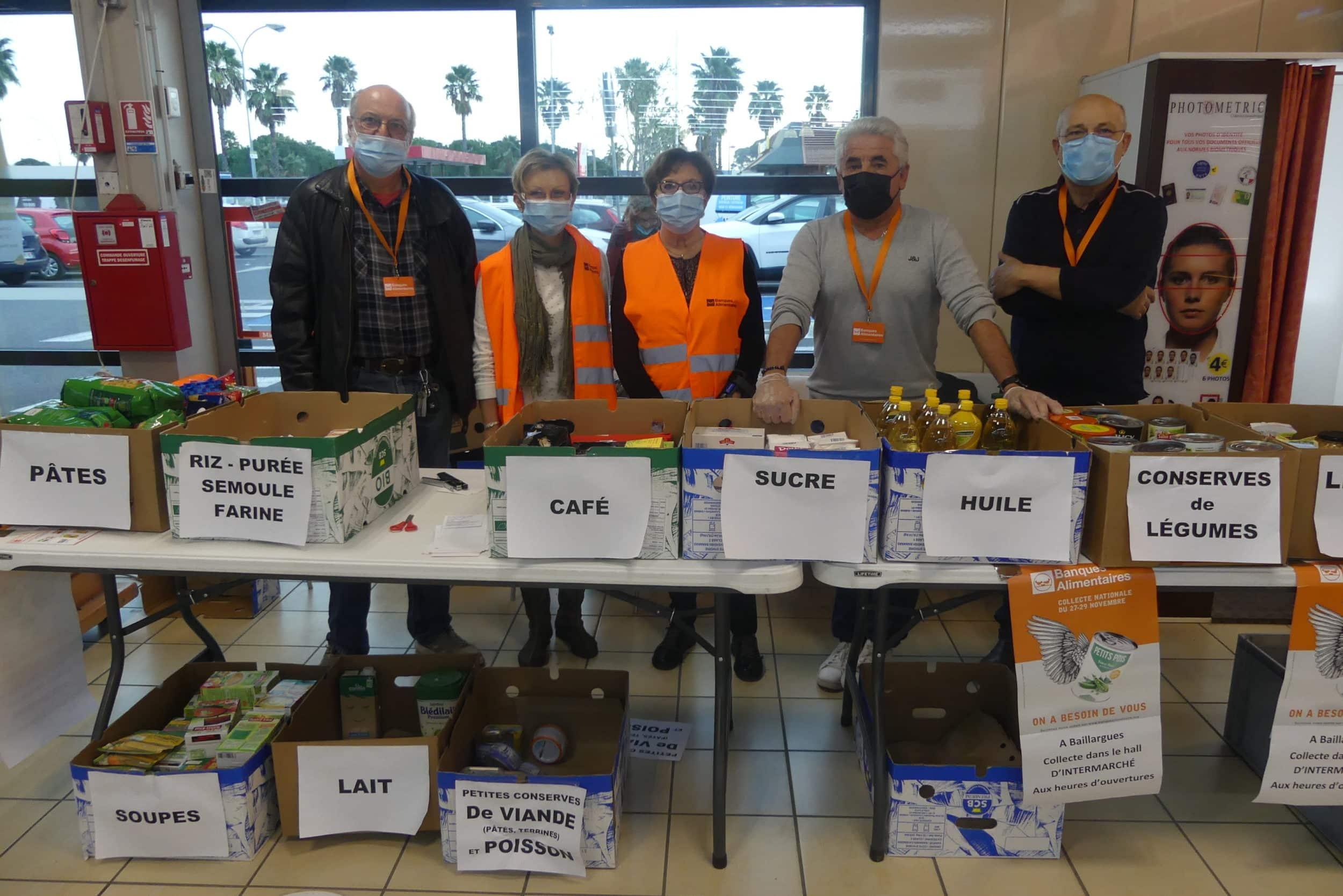 Cartons pleins pour la collecte alimentaire du CCAS les 27, 28 et 29 novembre derniers
