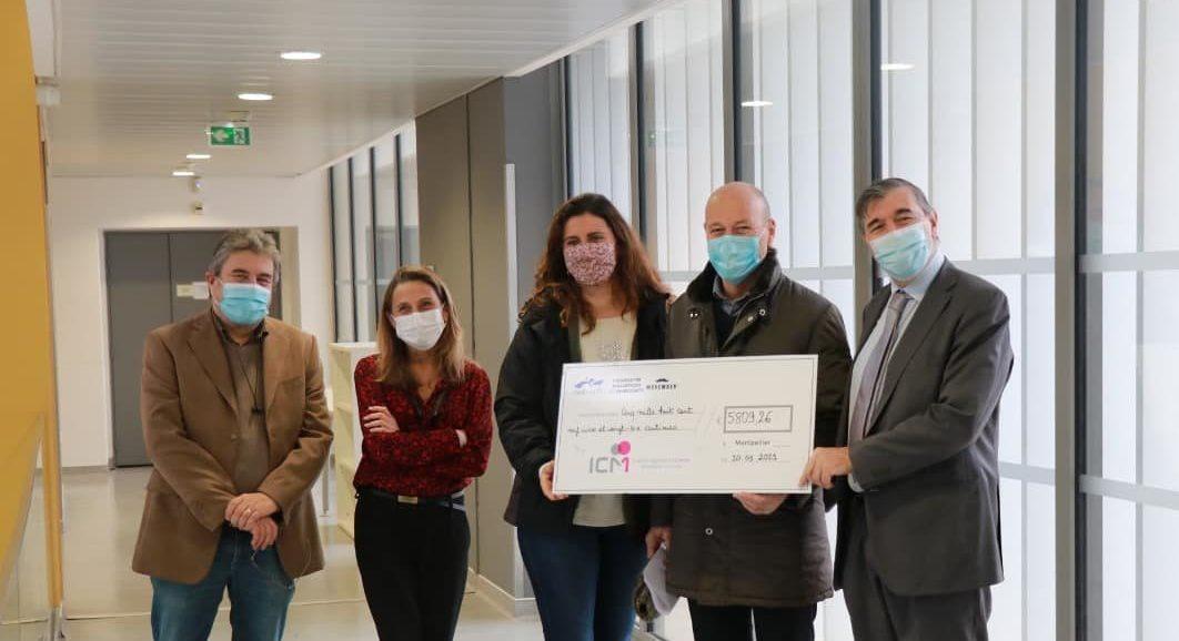 Un chèque de 5809€ remis par la Ville pour lutter contre le cancer